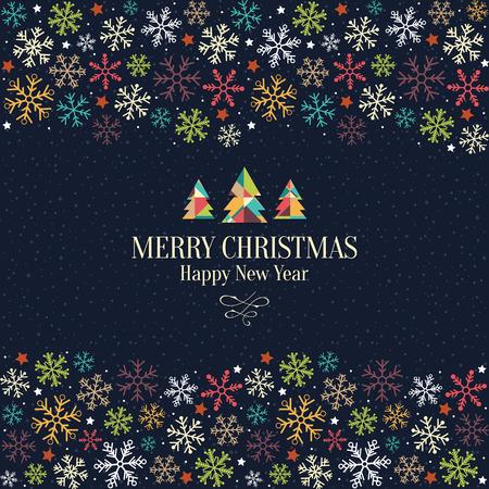 Noël et Nouvel An. carte de v?ux