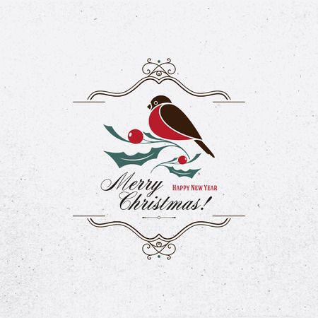 Christmas and New Year. Vector greeting card Vector