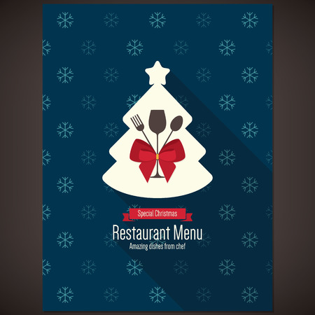Special Christmas festive menu design 일러스트