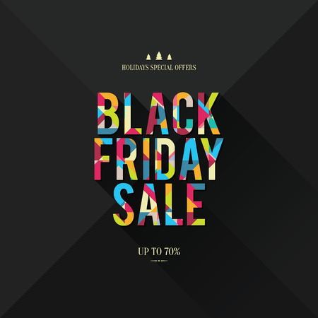 Design poster for black friday sales Vector