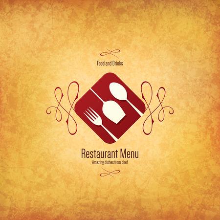 Conception des menus des restaurants Banque d'images - 34258180