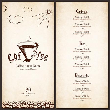 coffee house: Menu for restaurant, cafe, bar, coffee house