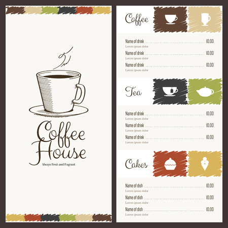 Menu for restaurant, cafe, bar, coffee house Stok Fotoğraf - 34258230