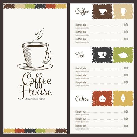 ice tea: Menu for restaurant, cafe, bar, coffee house