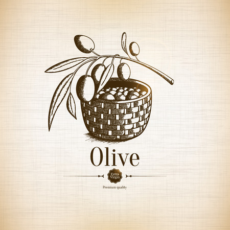 Olive tree icon Illustration