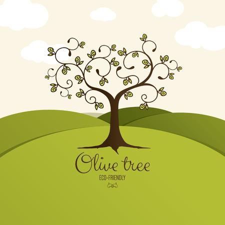 foglie ulivo: Icona olivo. Vettoriali
