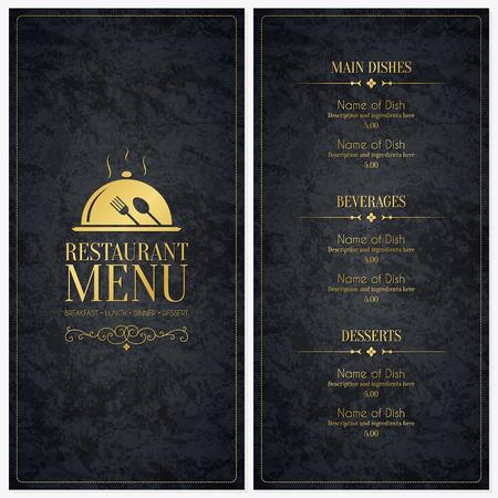 Conception des menus des restaurants Banque d'images - 35168075