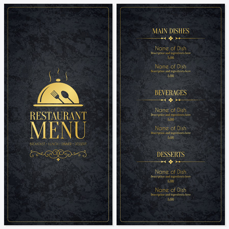 speisekarte: Restaurant Men�-Design