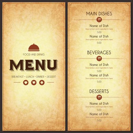logotipos de restaurantes: Diseño del menú del restaurante