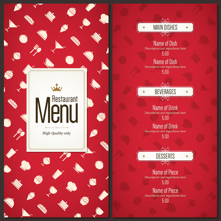 Restaurant Menü-Design Standard-Bild - 35168081
