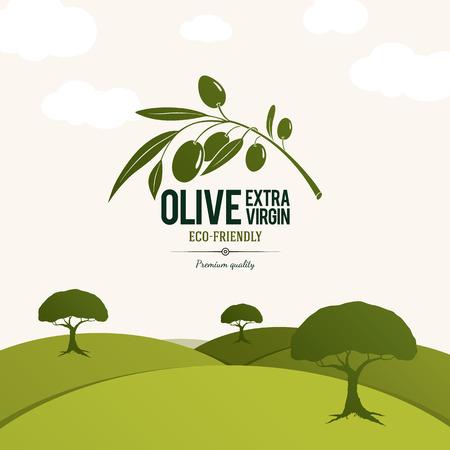conception: Olive étiquette, conception de logo. Olivier