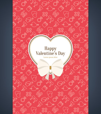 devider: Valentines day card Illustration