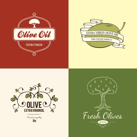 aceite de oliva virgen extra: Etiqueta de oliva, dise�o de logotipos