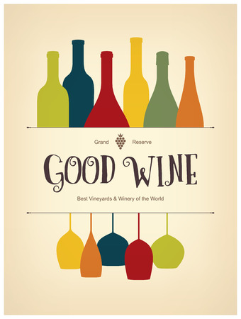 Wine list design Vettoriali