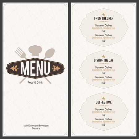 Conception des menus des restaurants Banque d'images - 37726663
