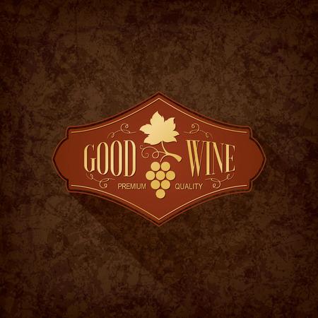 cafe bar: Wine list design Illustration