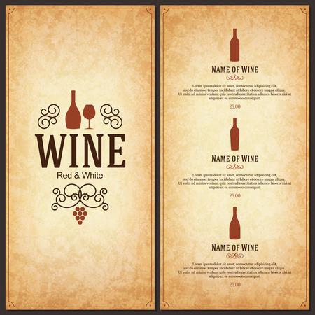 bares: Projeto da lista de vinhos