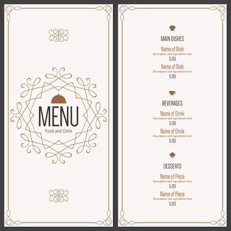royals: Restaurant menu design