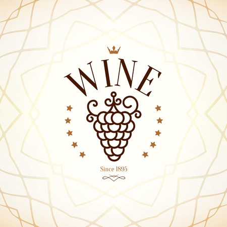 alcohol logo: Wine list design Illustration