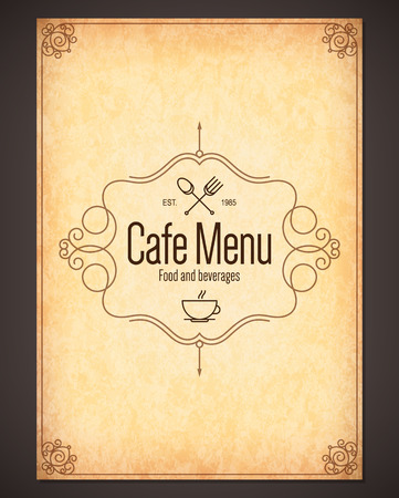 carta de postres: Men� para restaurante, cafeter�a, casa de caf� bar,
