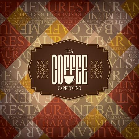 cafe bar: Menu for restaurant cafe bar coffee house Illustration