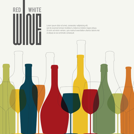 Wine list design Stock Illustratie