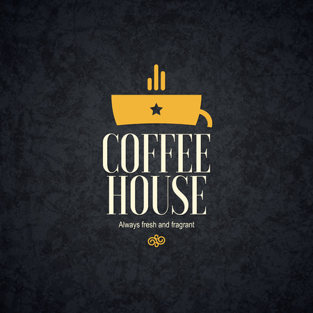coffee house: Vintage design for coffee house, cafeteria, bars, restaurant, tea shop