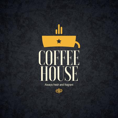 cafeteria: Vintage design for coffee house, cafeteria, bars, restaurant, tea shop