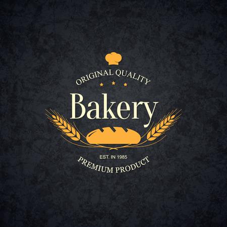 bread shop: Vintage design per prodotti da forno e pane negozio Vettoriali