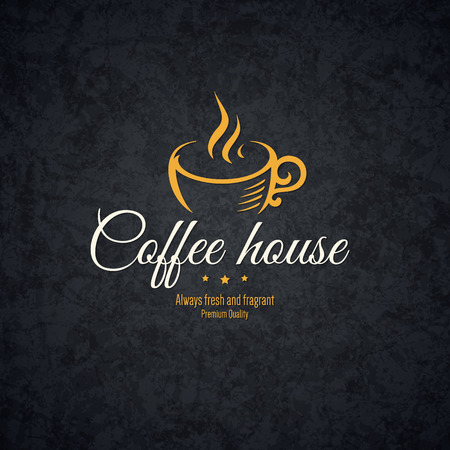 Vintage  design  for coffee house, cafeteria, bars, restaurant, tea shop Çizim