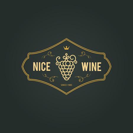 wineries: Vintage  design  for wine shop, winery, wine list, restaurant