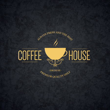 coffee house: Vintage  design for restaurant, bars, coffee house, cafeteria Illustration