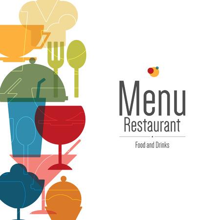 レストランのメニュー。フラットなデザイン