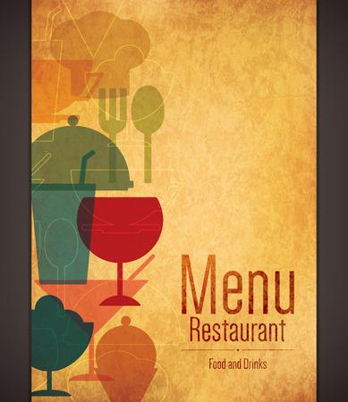Conception des menus des restaurants Banque d'images - 43961386