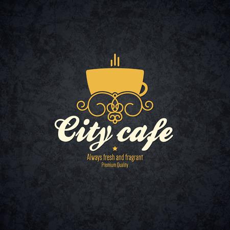 coffee house: Vintage  design  for coffee house, cafeteria, bars, restaurant, tea shop Illustration
