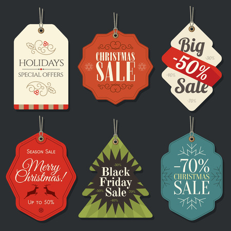 tags: Retail Sale Tags and Clearance Tags. Festive christmas design