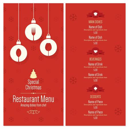 prázdniny: Speciální vánoční slavnostní provedení menu Ilustrace