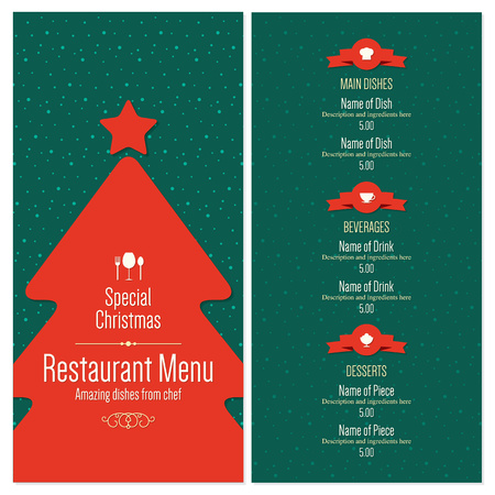 Special Christmas festive menu design Illustration
