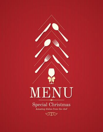 Special Christmas festive menu design Illustration