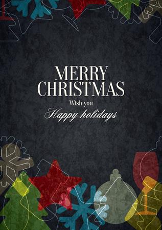 christmas greeting card: Christmas and New Year.  greeting card