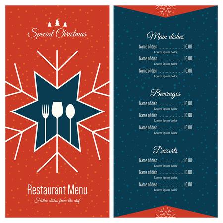 menu de postres: El diseño especial del menú festivo de Navidad