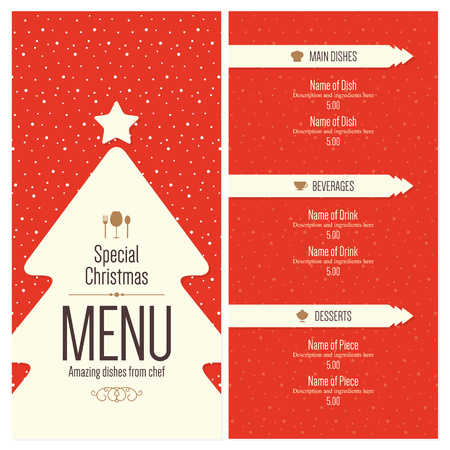 Special Christmas festive menu design 向量圖像