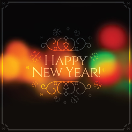 new year greeting: Christmas and New Year. greeting card
