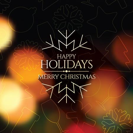 estaciones del año: Navidad y Año Nuevo. tarjeta de felicitación Vectores