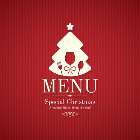ristorante: Menù di progettazione di festa Speciale Natale Vettoriali
