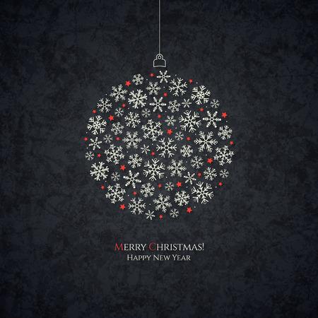 estaciones del a�o: Navidad y A�o Nuevo. Tarjeta de felicitaci�n del vector