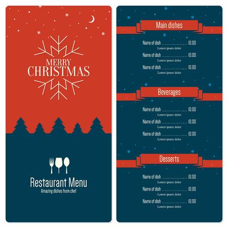 christmas menu: Special Christmas festive menu design Illustration