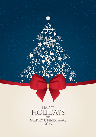 renos de navidad: Navidad y A�o Nuevo. Tarjeta de felicitaci�n del vector