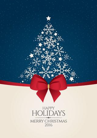Weihnachten und Neujahr. Vektor-Grußkarte
