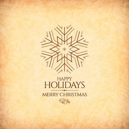 motivos navide�os: Navidad y A�o Nuevo. Tarjeta de felicitaci�n del vector